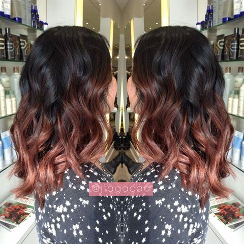 Image result for rose gold ombre