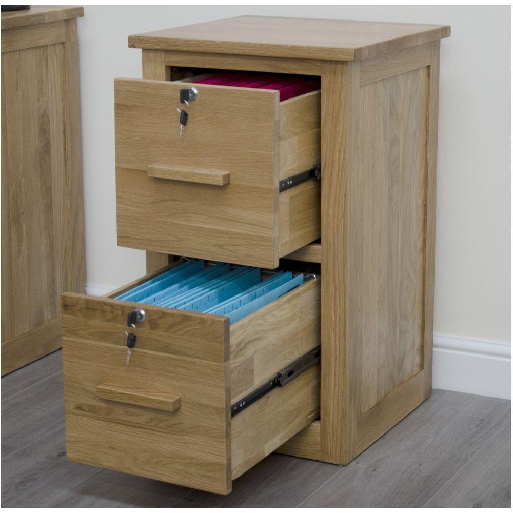 3 Drawer Solid Oak File Cabinet