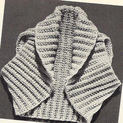 Shrug Bolero Knitting Pattern Small Medium Large This cute little ...