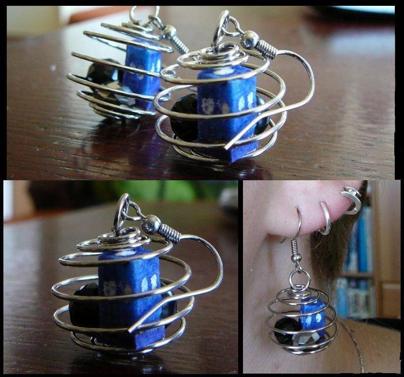 Tardis earrings.