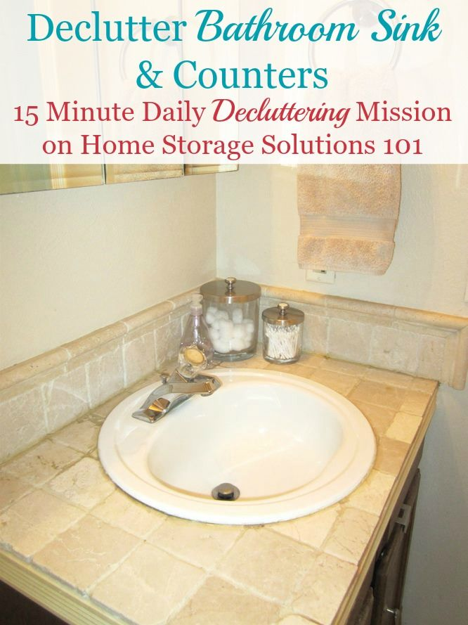 How To Declutter Your Bathroom Sink Counter Make It A Daily Habit Declutter Declutter Bathroom Home Storage Solutions
