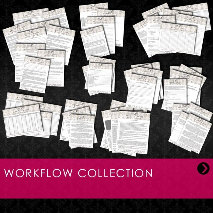 Workflow Collection Includes Digital Workflow, Client - event order form