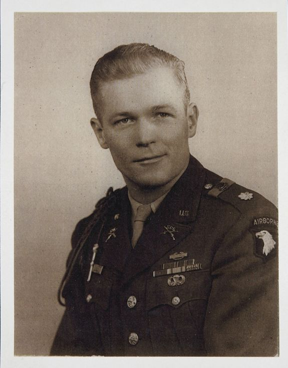 "Major Richard ""Dick"" Winters. Commanded company E,2nd battalion, 506th parachute regiment of the 101st Airborne Division during wWWII"