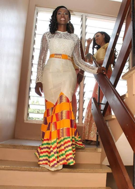 robe de mari e kente robe ankara robe de mariage africain v tements africain tenues. Black Bedroom Furniture Sets. Home Design Ideas