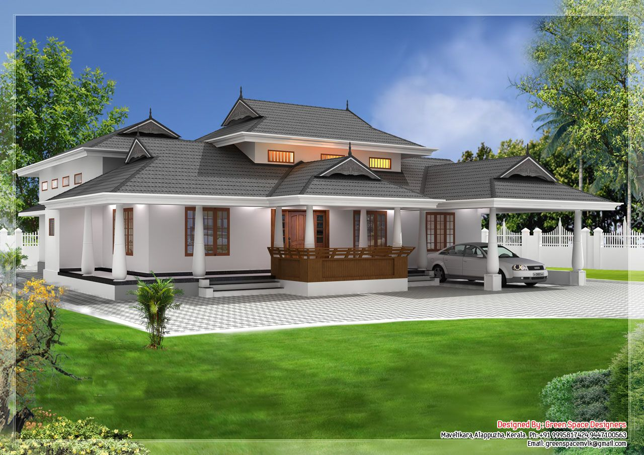 Traditional home designs sq ft this home is designed by for Kerala home style 3 bedroom