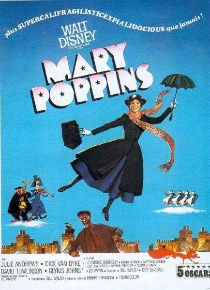 Affiche du dessin animé Mary Poppins sortie en 1964 | Mary ...