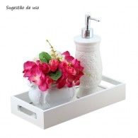Bandeja Café/Lavabo com espelho Branca