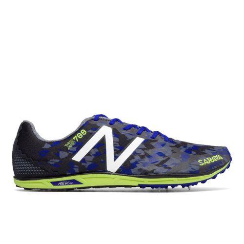 XC700v4 Spike Men's Cross Country Shoes - Blue/Yellow (MXCS700B)