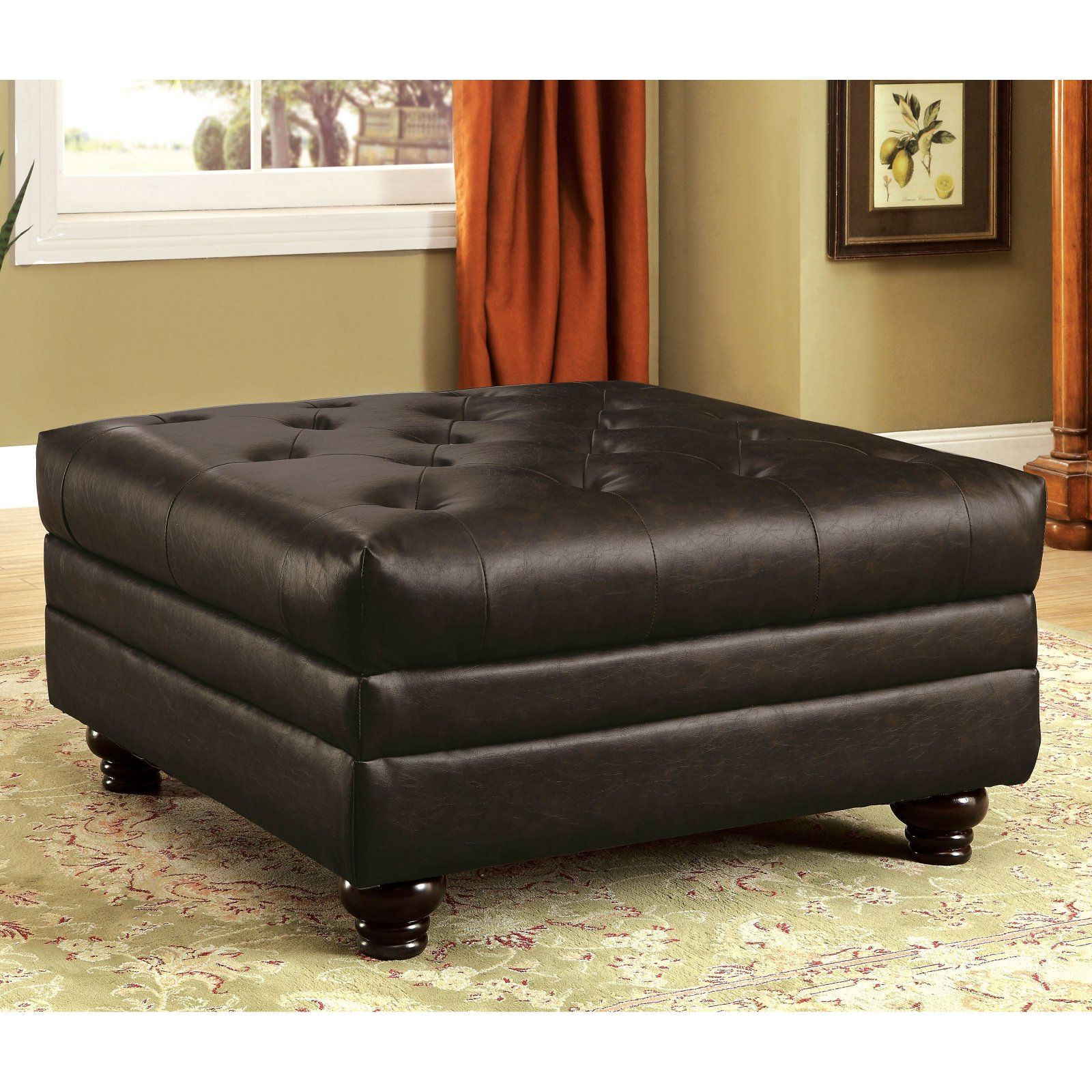 Remarkable Furniture Of America Starken Faux Leather Coffee Table Machost Co Dining Chair Design Ideas Machostcouk