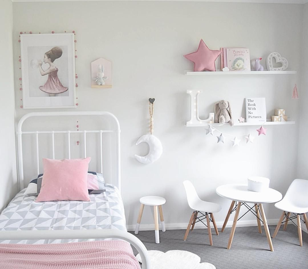 Children S And Kids Room Ideas Designs Inspiration: The Design Minimalist Scandinavian Kids Bedroom Via Thedesignminimalist Soft Pink Kids Bedroom