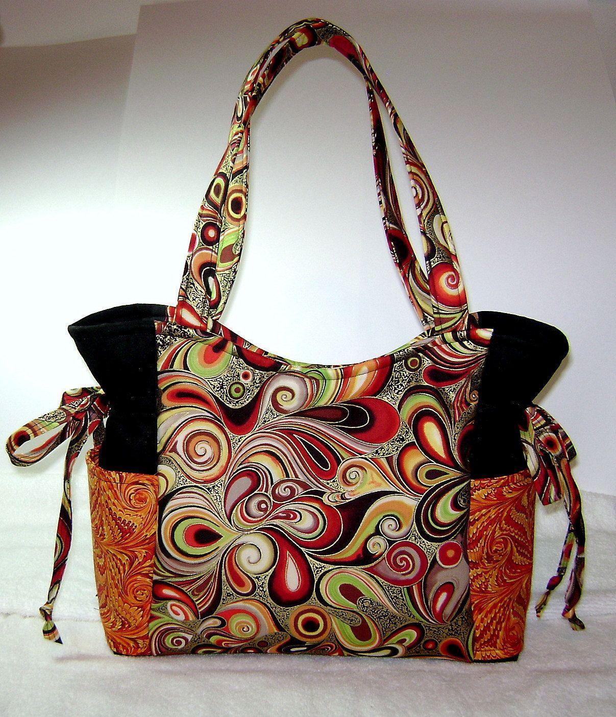 Handmade Purse Handbag Fabric Medium Ooak Artsy Hp10