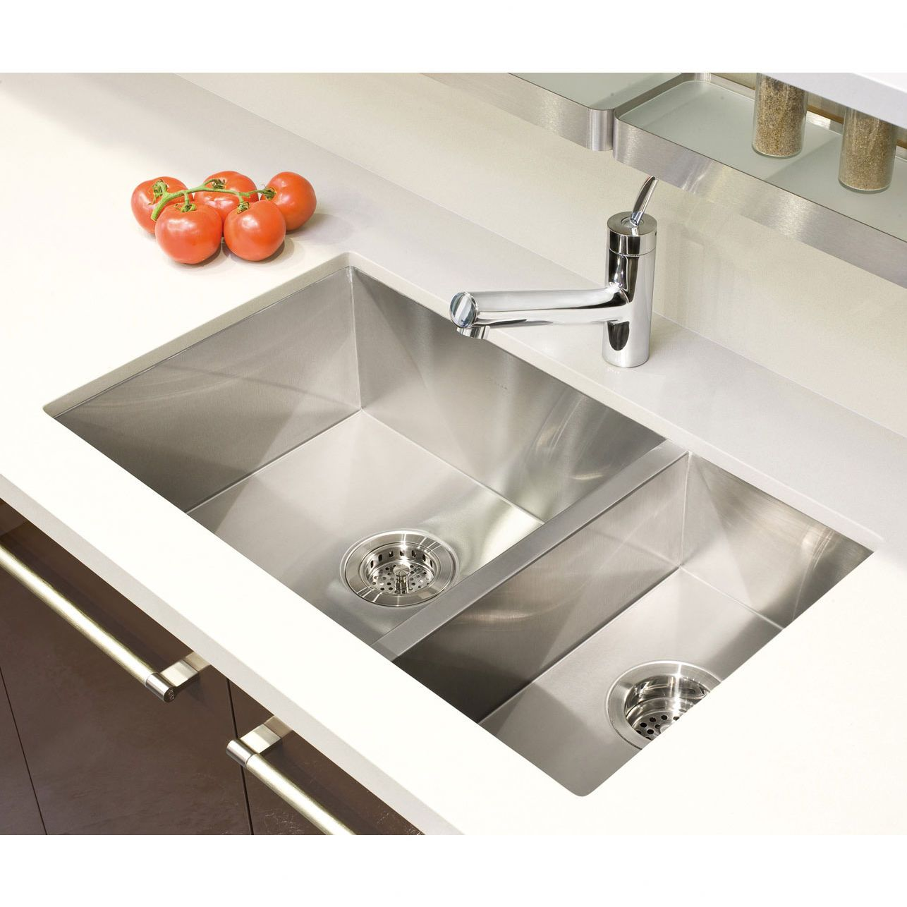 Julien Urbanedge 7 75 X 14 75 Undermount Stainless Steel Double Contemporary Kitchen Sinks Double Bowl Kitchen Sink Stainless Steel Double Bowl Kitchen Sink
