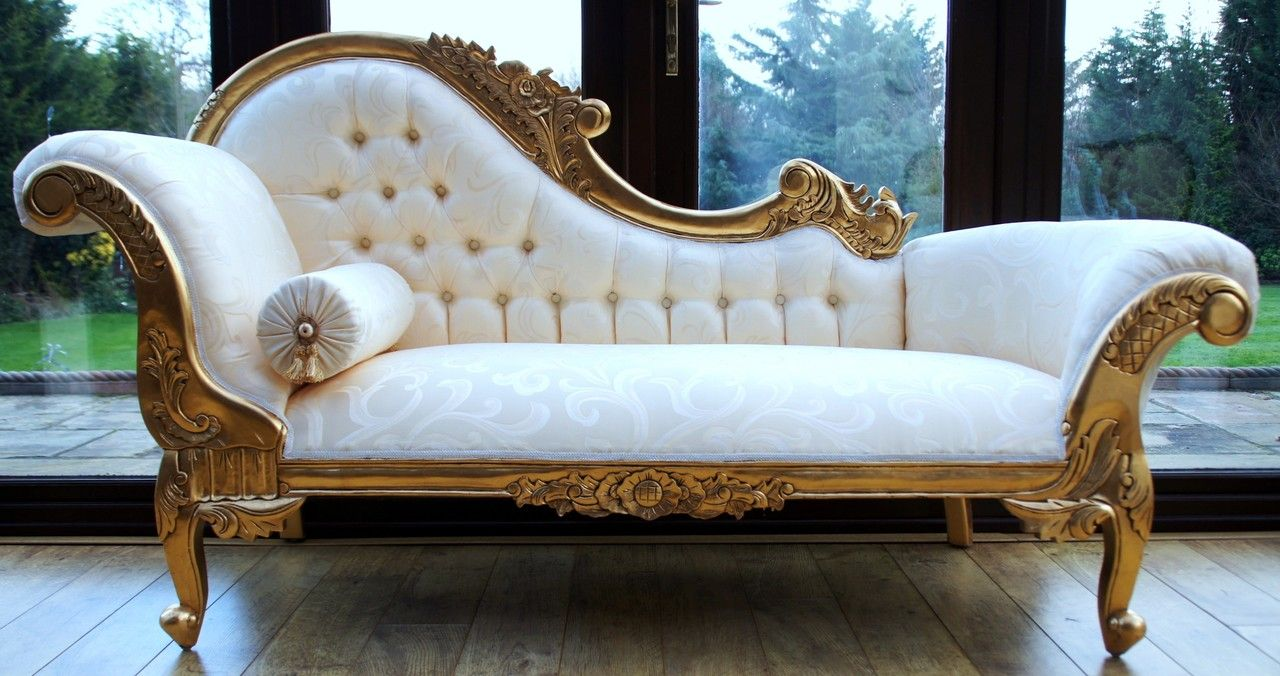 Hampshire Chaise Gold Furniture French Shabby Chic Ideas
