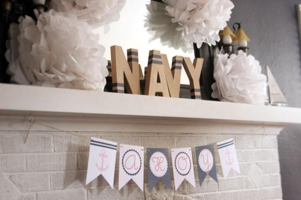 Love the class and simplicity - obviously switch up the colors a tad for a boy...Sailor Nautical Birthday Party via Kara's Party Ideas | KarasPartyIdeas.com