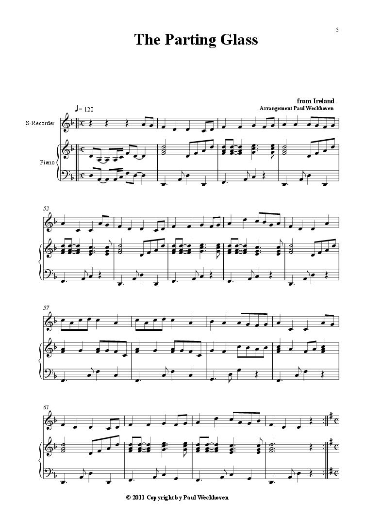 Danny Boy (Londonderry Air) Irish Folksongs arranged for