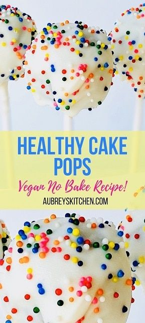Cake Pops (Healthy + Easy No Bake)