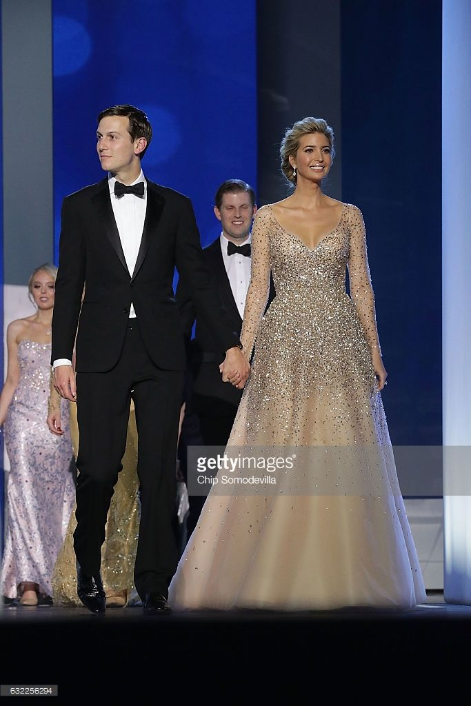 Ivanka Trump (R) and her husband Jared Kushner arrive at the Freedom Ball at the Washington Convention Center January 20, 2017 in Washington, DC. The ball is part of the celebrations following U.S. President Donald Trump's inauguration.