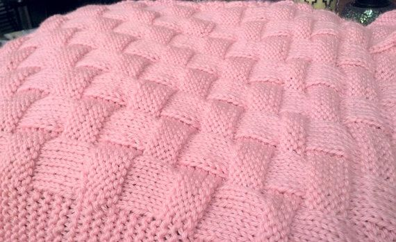 REALISTIC Basket Weave Knit Pattern - In Baby Blanket or Knitting ...