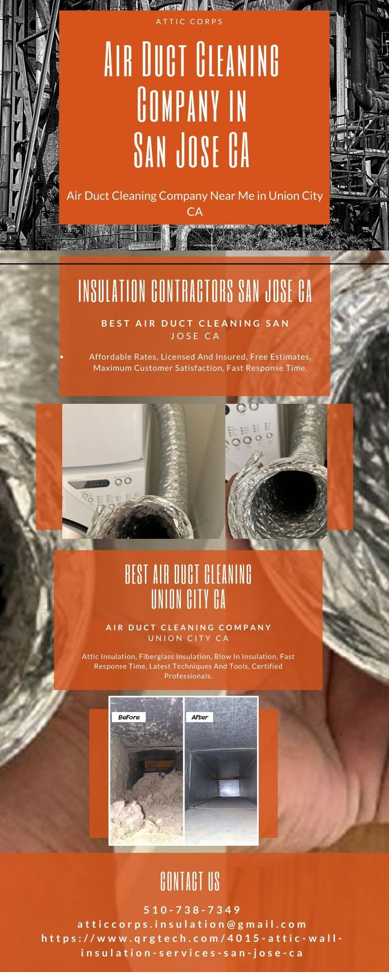 Air Duct Cleaning Price San Jose CA, Insulation San Jose