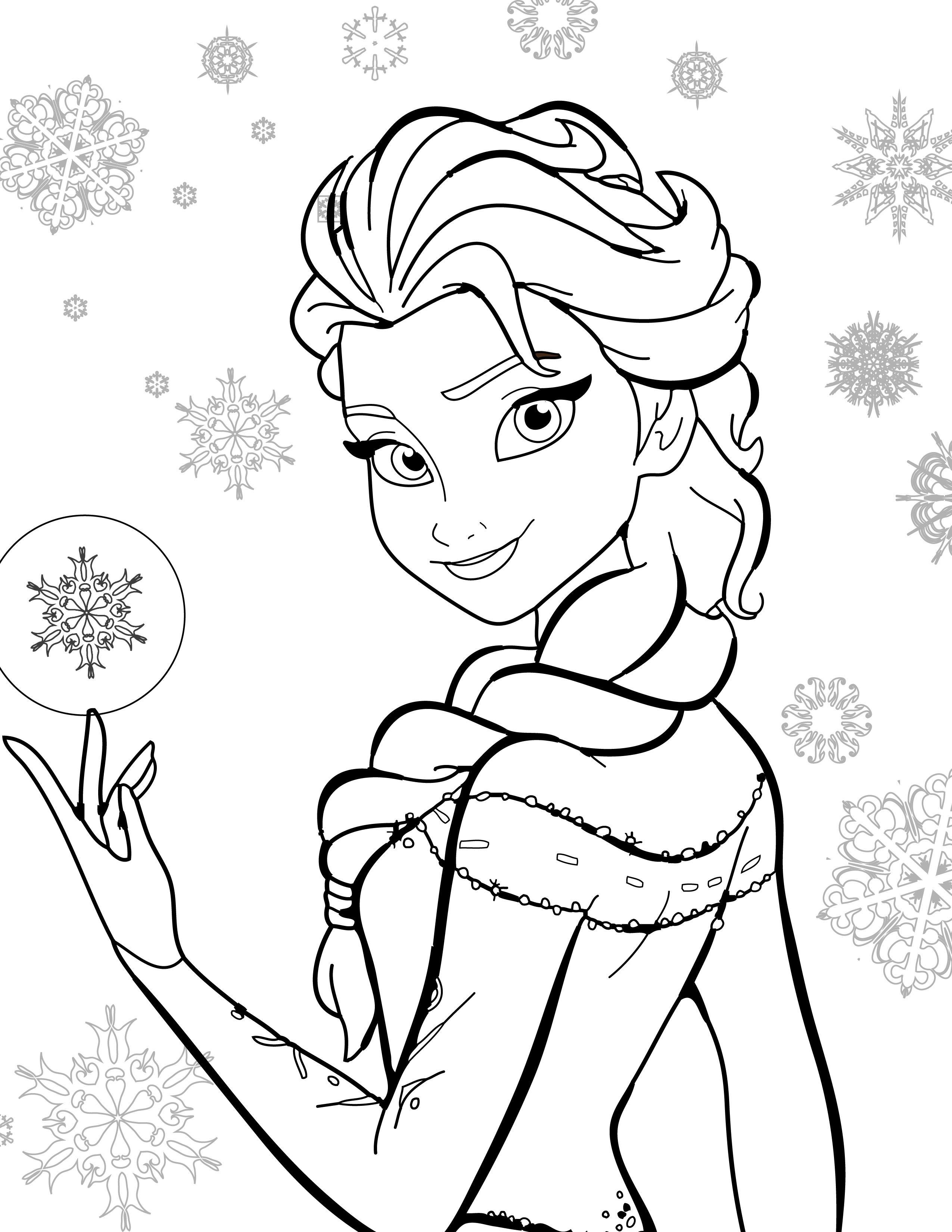 Coloriage De Disney Gratuit Elsa Frozen