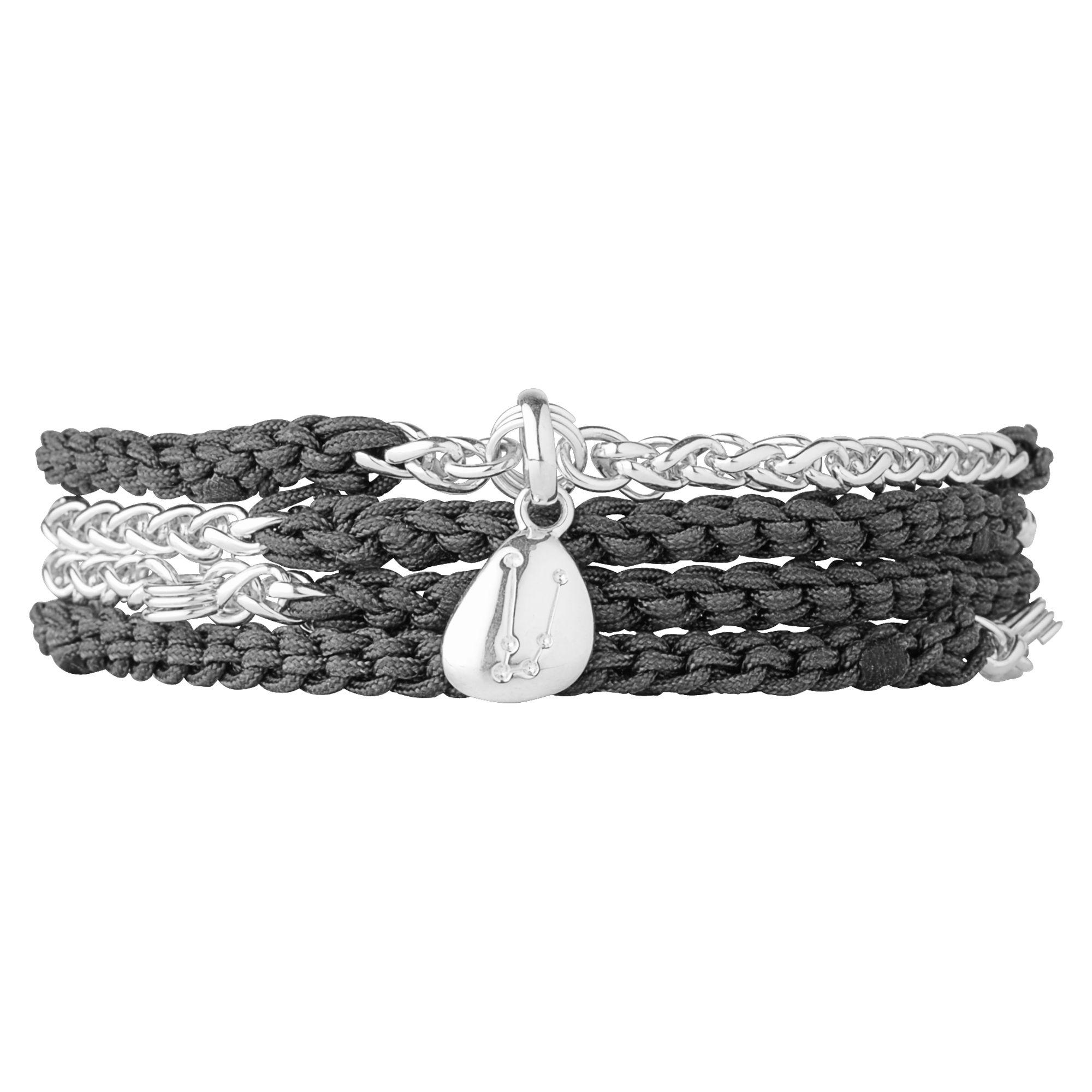 Links of london black charm wrap bracelet keepsakes pinterest
