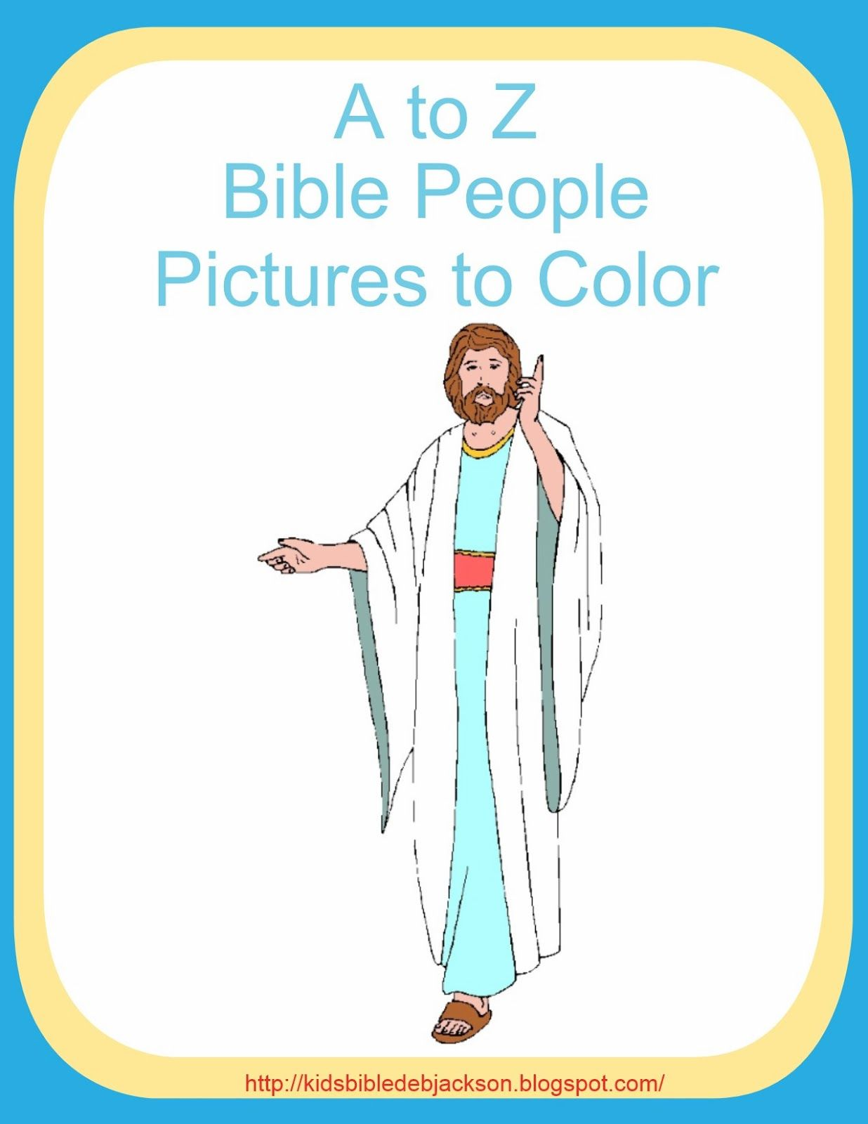 A To Z Bible People Pictures To Color