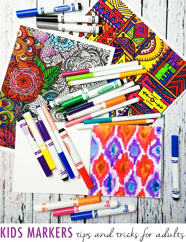 Kids Markers Tips And Tricks For Adults Art Lessons Sketch Book Coloring Pages