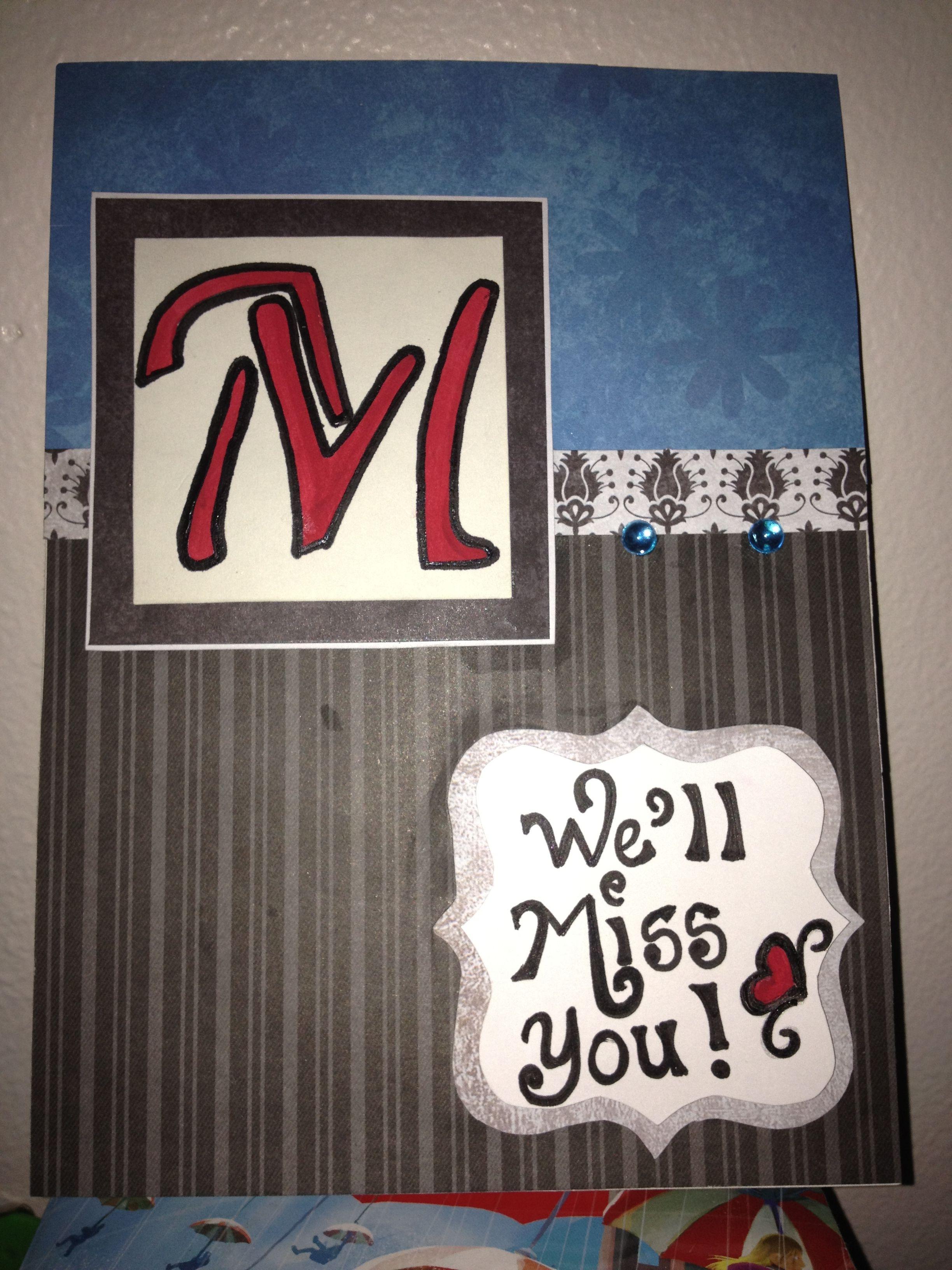 Farewell card for a coworker cards handmade card craft