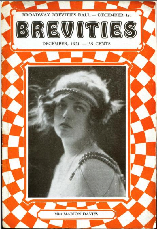 Marion Davies cover of Broadway Brevities