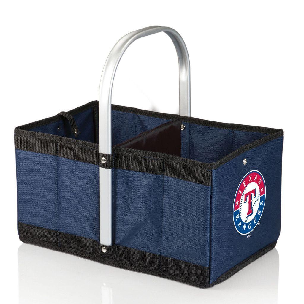Texas Rangers Folding Basket Picnic Time Basket
