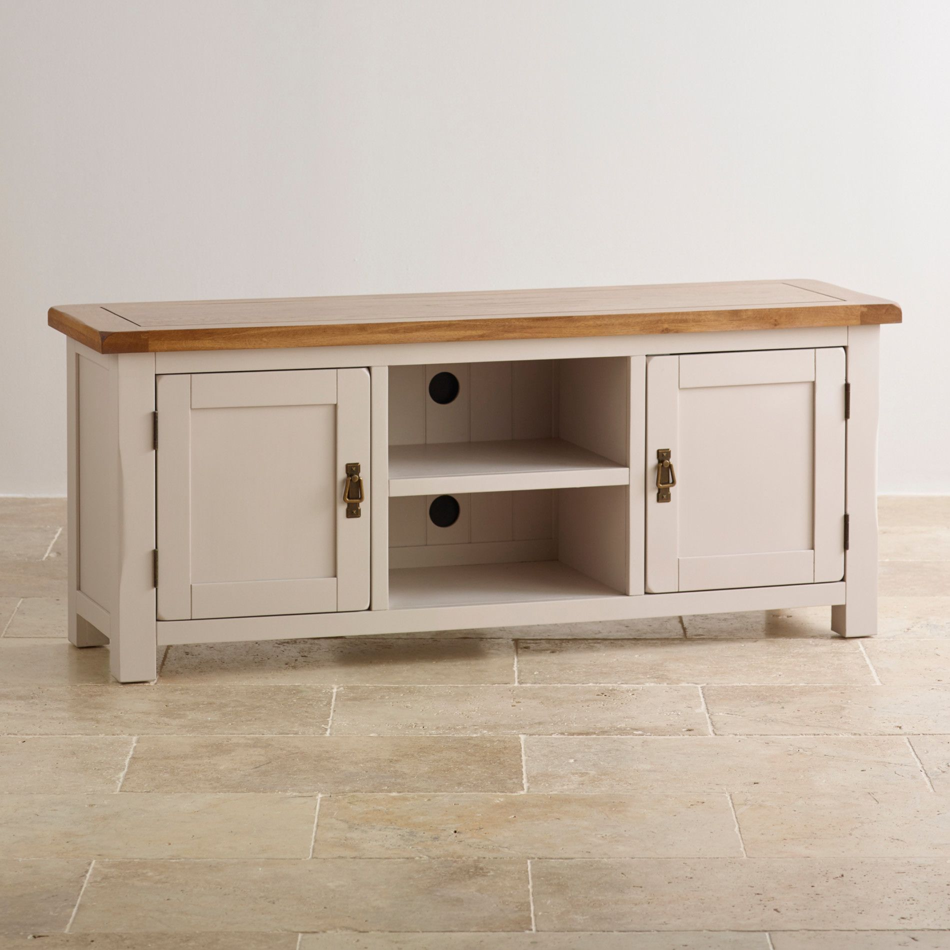 Kemble Solid Oak Widescreen TV Cabinet Wide Or Narrow Oak Furnitureland