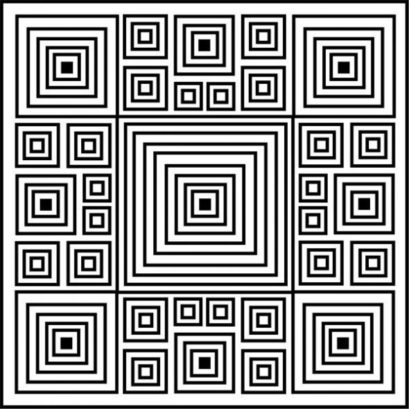 optical illusion coloring page found at http://www.squidoo.com ...
