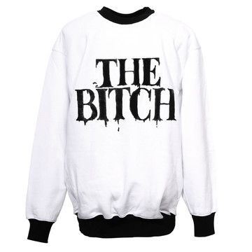 The Bitch Sweater White, 65€, now featured on Fab.