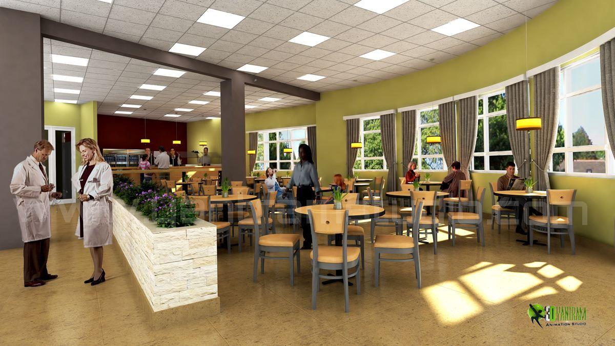 3d hospital lobby #interior #design #rendering animation