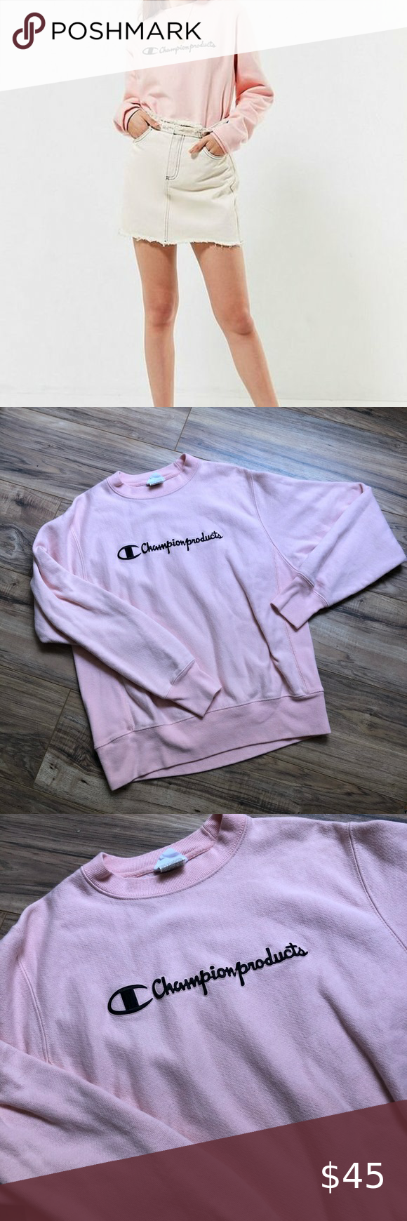 Champion X Uo Urban Outfitters Product Sweatshirt Champion Uo Products Sweatshirt Gorgeous Pale Pink Color Clos Sweatshirts Pink Sweatshirt Urban Outfitters [ 1740 x 580 Pixel ]