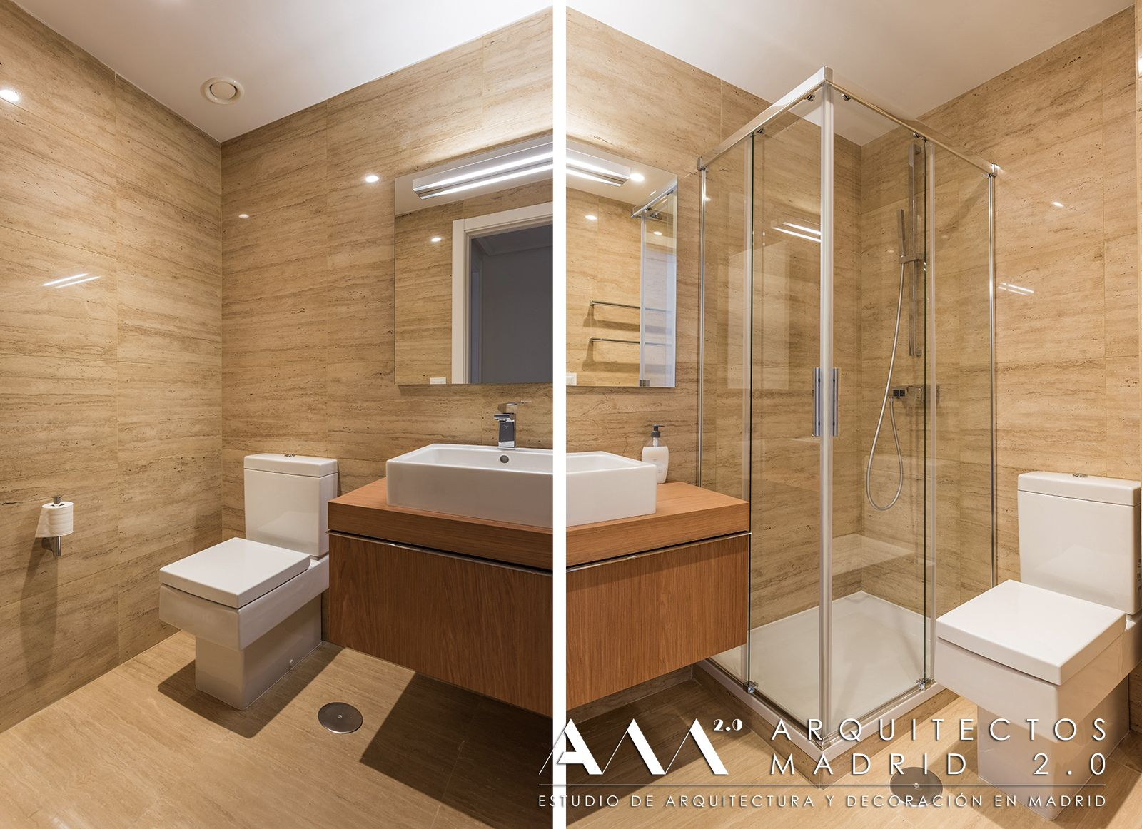 baños con mármol travertino | Ideas para Baños | Pinterest | Madrid ...