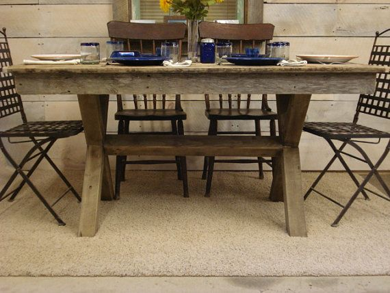 Driftwood Trestle Table 72 X 30 X 30 42 H Rustic Dining