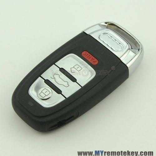 For Audi A4l Q5 Smart Key Case 8t0959754j 3 Button With Panic Smart Key Audi Audi A3