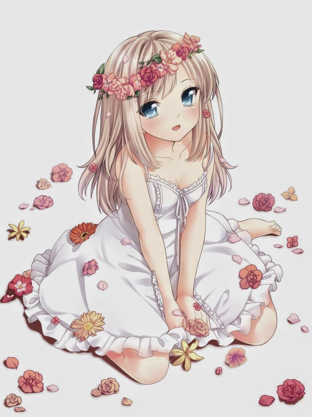 Anime Flower Girl