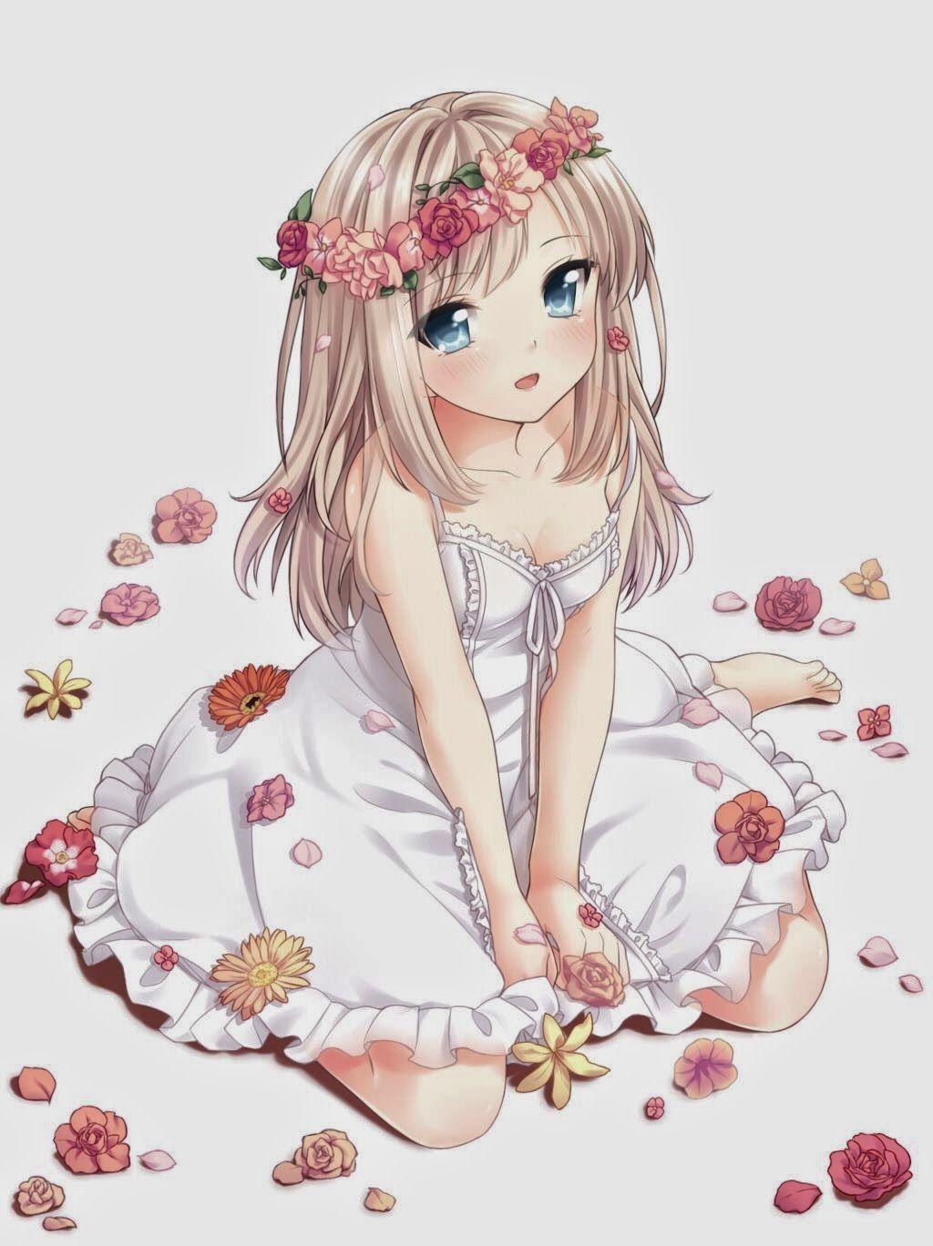 Cute Anime Flowergirl Anime Stuff Pinterest Anime