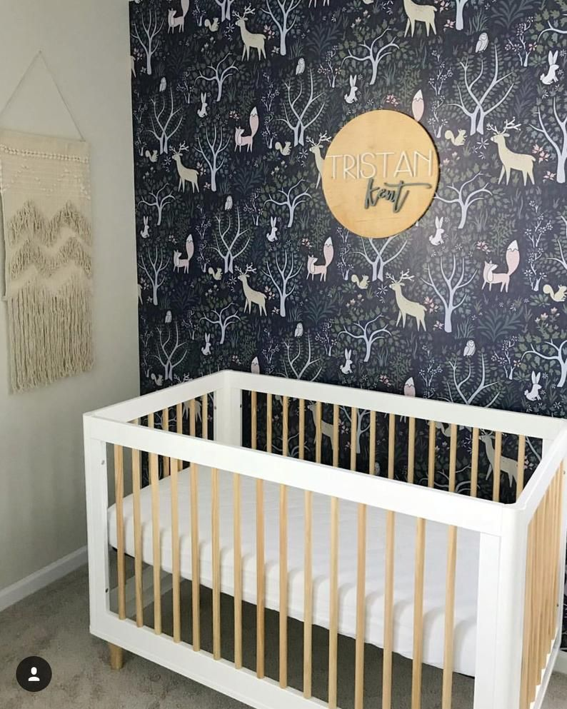 Bambi Deer in Forest Removable Wallpaper Mural, Floral