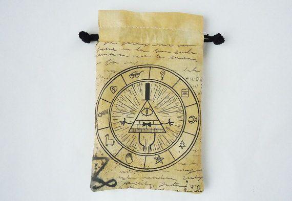 XL Bill Cipher Gravity Falls Drawstring bag by JuliefooStitches
