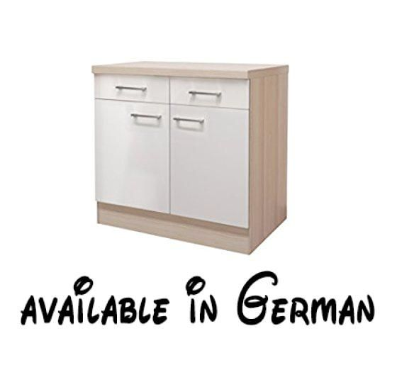 Küchenmöbel made in germany  B005N8V0NK : Flex-Well 00007152 Unterschrank Abaco Perlmutt glänzend ...
