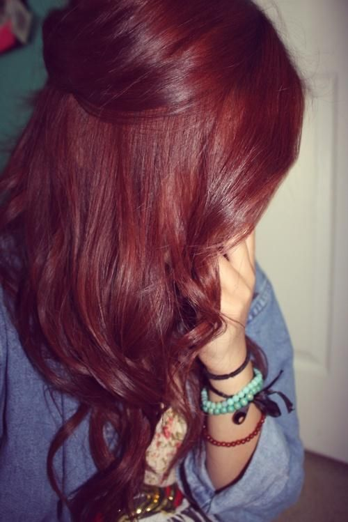 Such A Pretty Color Red Hairr Pinterest Color Red Weft Hair