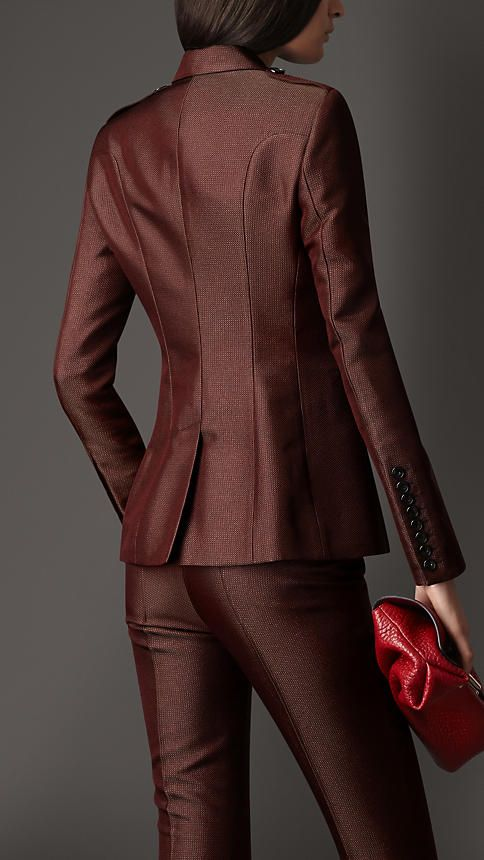 Satin Trim Tailored Jacket | Burberry