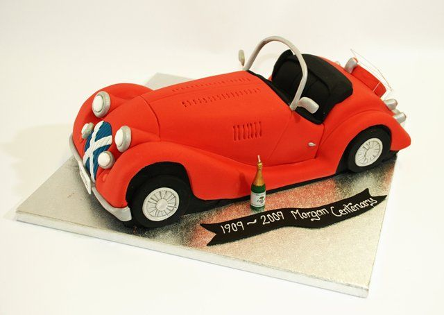 Red Vintage Car cake auto train airplanemoto Pinterest