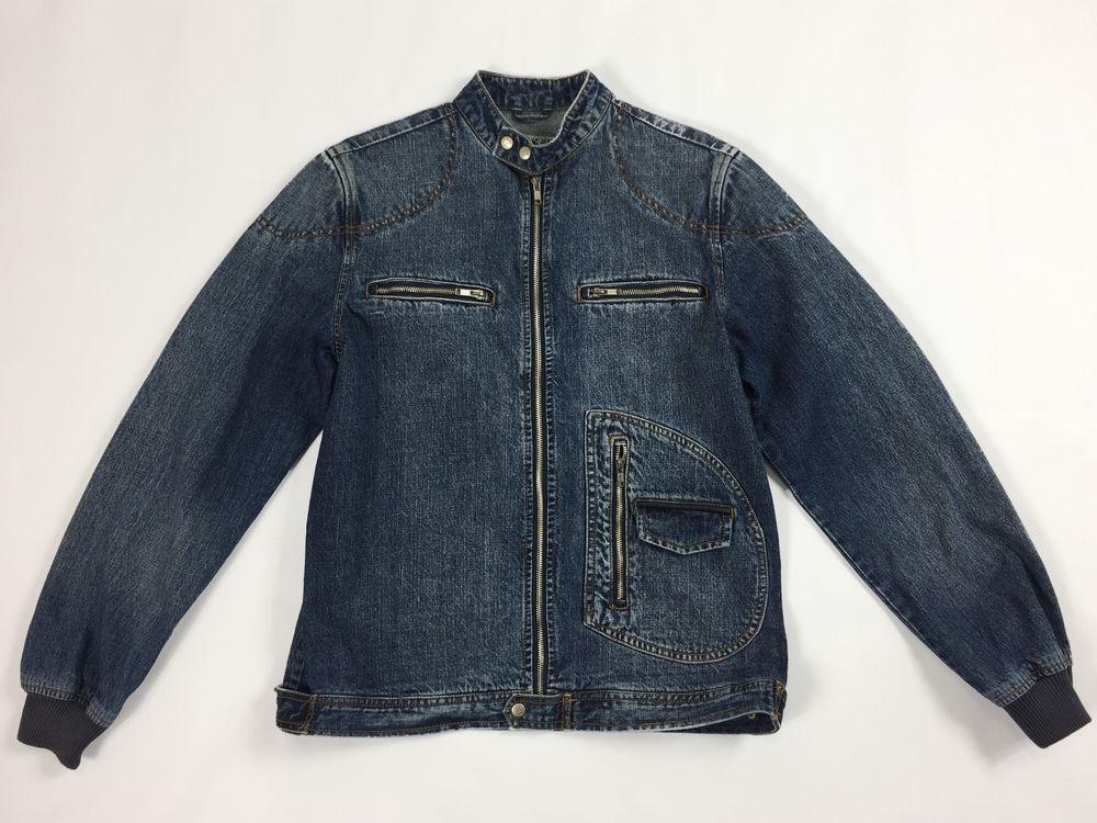 Alcott jacket jeans M blu giacca giubbino vintage uomo retro