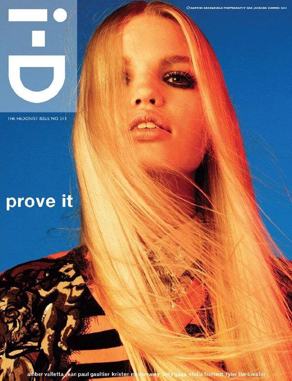 Daphne Groeneveld op cover i-D magazine