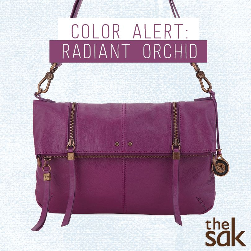 """""""We are loving Radiant Orchid, the color of the year. It has a 'pinkish purple' hue making it both bold and inviting while adding a pop of vibrant color to any outfit."""" - Beth, The Sak Product Development  Shop everything Orchid!"""