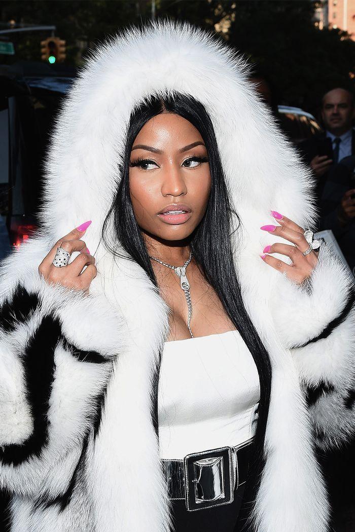 Nicki Minaj at the 2017 Oscar De La Renta fashion show.